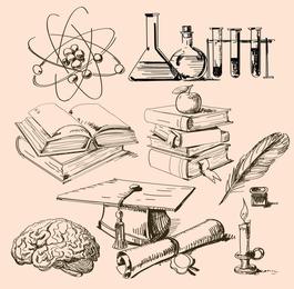 Vetor de ferramenta física e química matemática