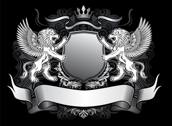 Lion Shield Vector 1
