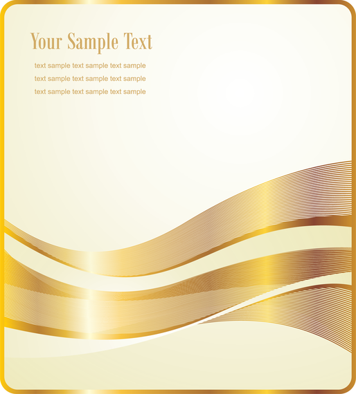 Gold ribbons poster background template