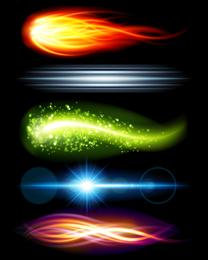 Lindo brilhante efeitos de iluminação 05 Vector