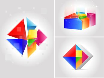 Vetor de mudança de sete cores
