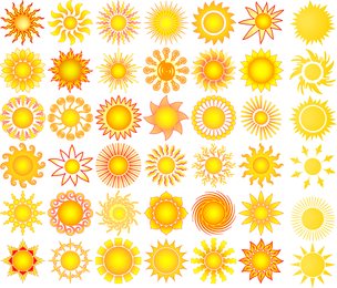 Sun Elements Collection Vector