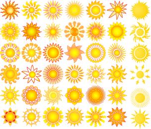 Vector de elementos de Sun Collection