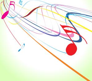 Vetor de onda de música