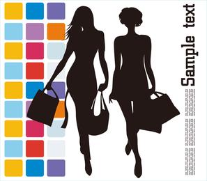 Compras de moda ilustración vectorial