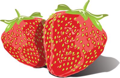 Kostenlose Vector leckere Erdbeeren