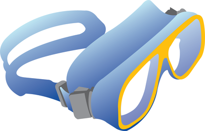 Free Swimming Glasses Vector