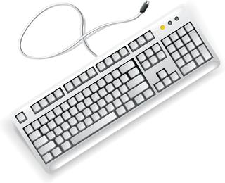 Vector de teclado de computadora blanco