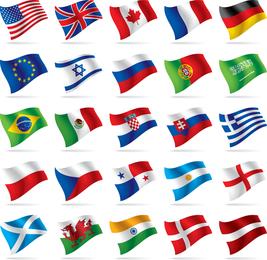 Vetores Bandeira Nacional mundo