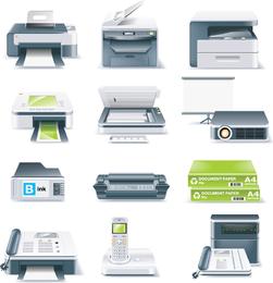 Impresoras, máquinas de fax, proyectores y otros equipos de oficina Vector