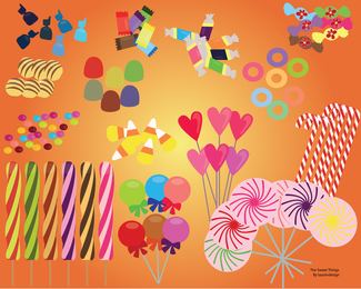 Free Vector Candies And Sweets