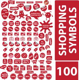 100 Free Vector Shopping Symbols