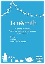 Bridal Shower Invitation Vector
