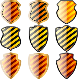 Black and Yellow Shield Set