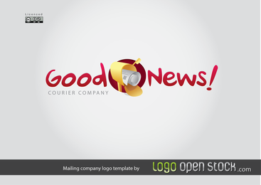 Mailing Company Logo Template with text