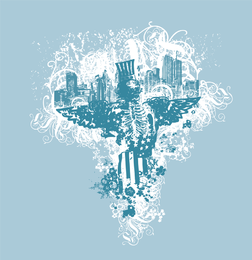 City Of Angels Vector Illustration
