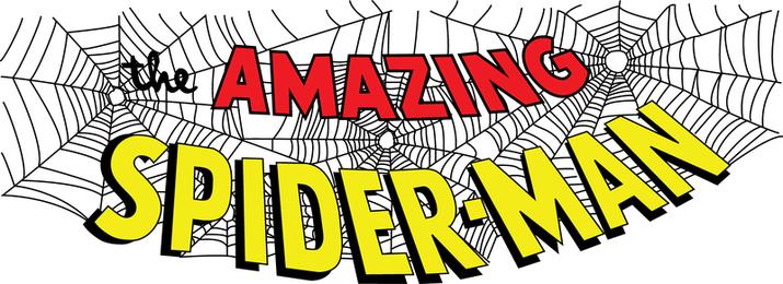 Logotipo surpreendente do mastro de Spiderman