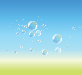 Bubbles background over gradient