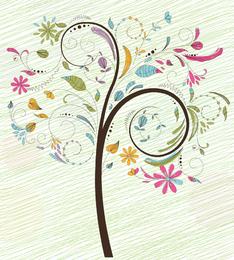 Árbol colorido ilustración vectorial