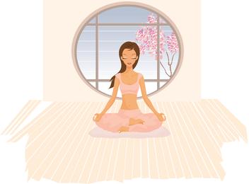 Vector de yoga