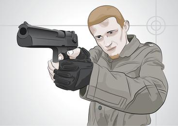 Hombre de tiro