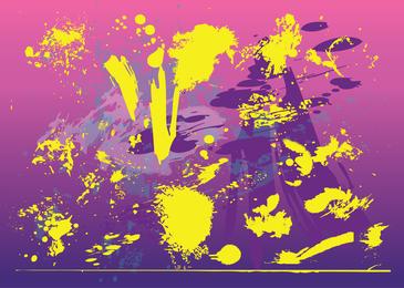 Fundo de manchas de grunge amarelo