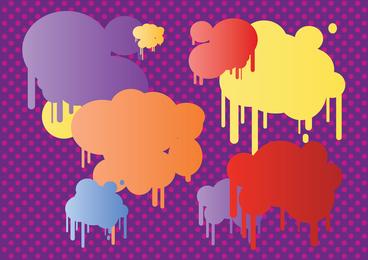 Burbujas de arte pop