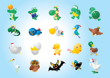 Ilustrações de caracteres animal
