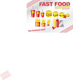 Cartaz de Fast Food com guloseimas