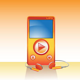 Reproductor de mp3 naranja