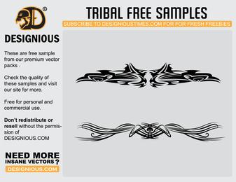 Tribal sample illustration set design