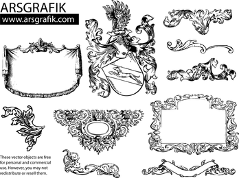 Heraldry And Flourishes Pack