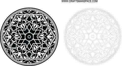 Símbolo ornamental do círculo