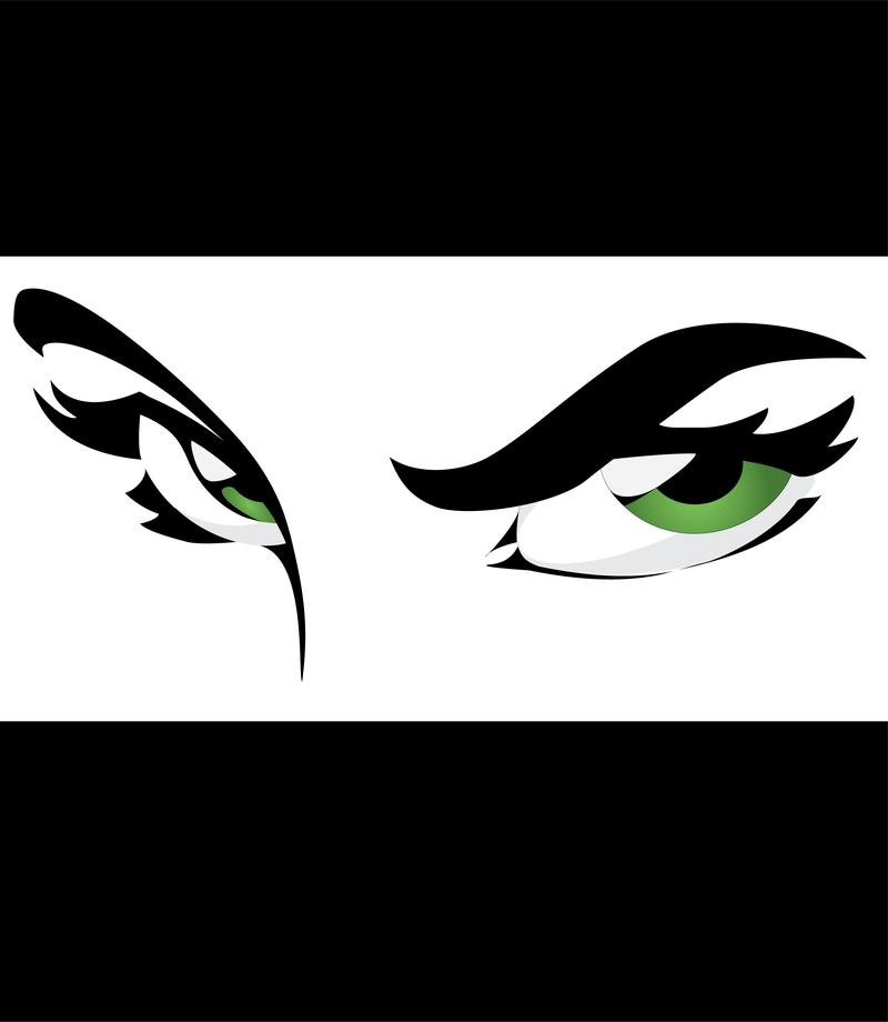 Ilustración verde con marco de ojos - Descargar vector