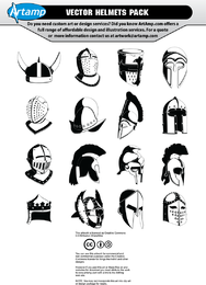 Set of 16 helmets