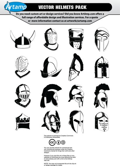 Set of 16 helmets