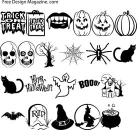 Vectores de Halloween Parte 2