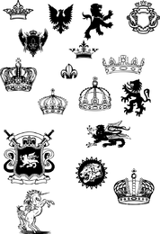 Crowns And Shield Vector