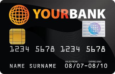 Plantilla de tarjeta de credito