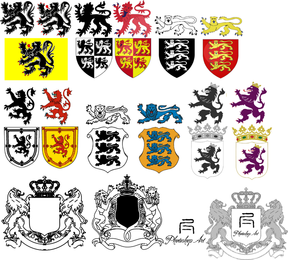 Heraldic Lion Vector Collection