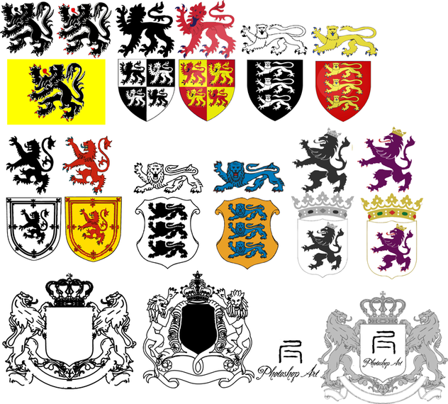 Heraldic Lion Vector Collection