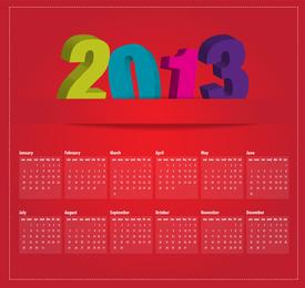 Design-Vektor des Kalenders 2013