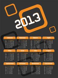 Design-Vektor für 2013 Kalender