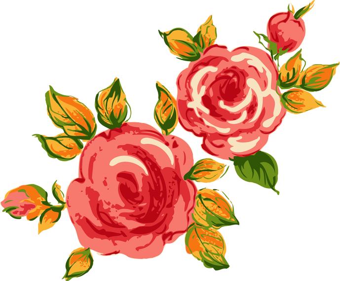 Rosa Bouquet 02 Vector