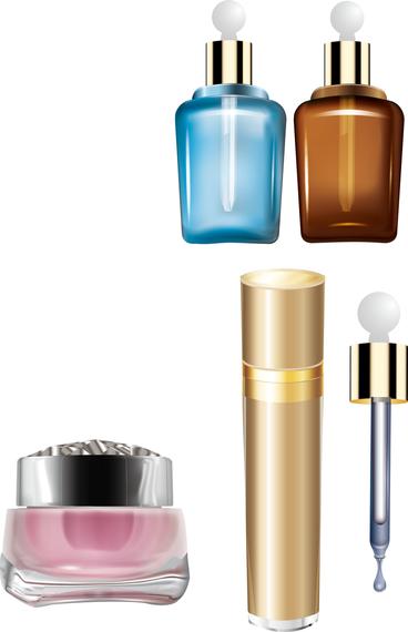 Vector de botellas de cosmeticos