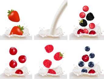 Fruit Milk 01 Vector