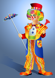 Clown Illustrator 03 Vector
