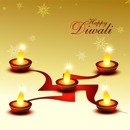 Schöner Diwali-Karten-Vektor 01