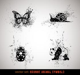 Vetor de animais de tinta 3