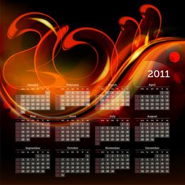 Plantilla de calendario de incendios 2011